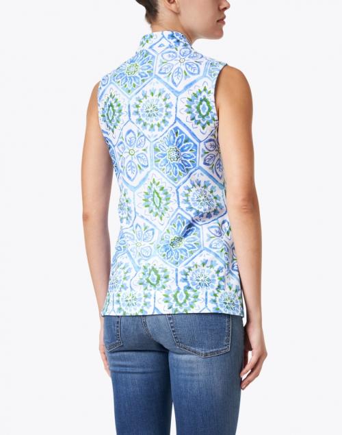 Jude Connally - Kiera Blue Mosaic Tile Printed Tunic