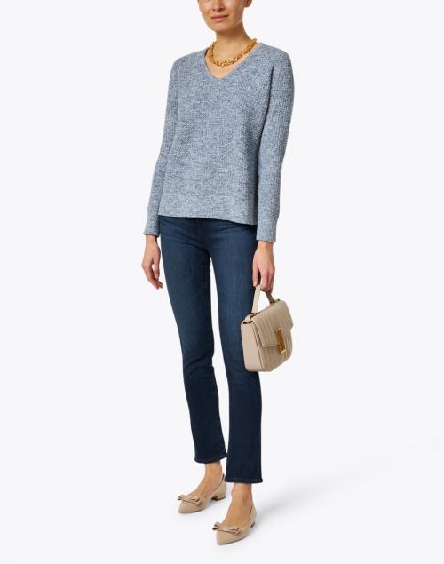 Kinross - Cove Blue Cotton Sweater