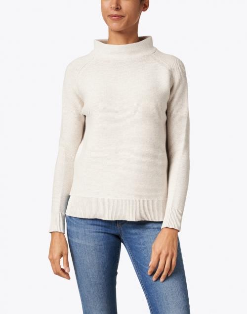 Kinross - Beige Garter Stitch Cotton Sweater
