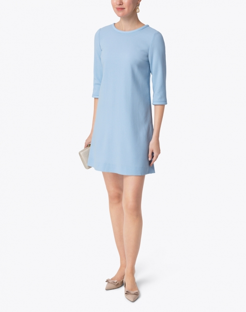 Goat - Lola Ice Blue Wool Crepe Dress