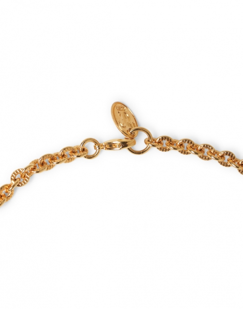 Sylvia Toledano - Labradorite Medallion Gold Pendant Necklace