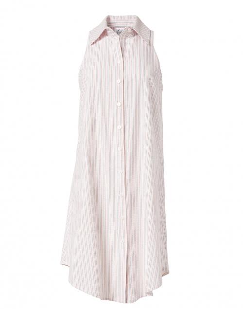 Finley Swing White Multi Stripe Shirt Dress