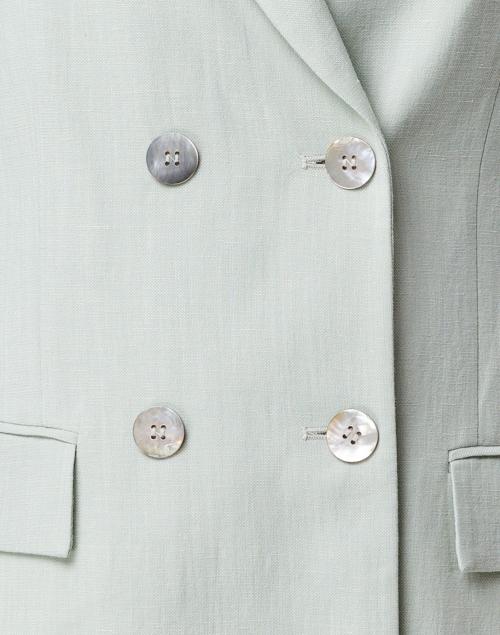 Seventy - Mint Linen Double Breasted Blazer