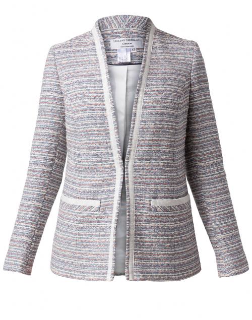 Helene Berman - Ete Bastille Cream and Blue Tweed Jacket