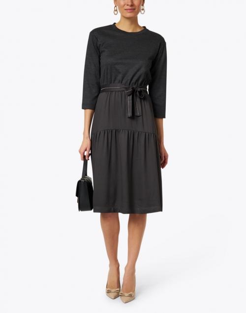 Peserico - Slate Grey Punto Milano Dress