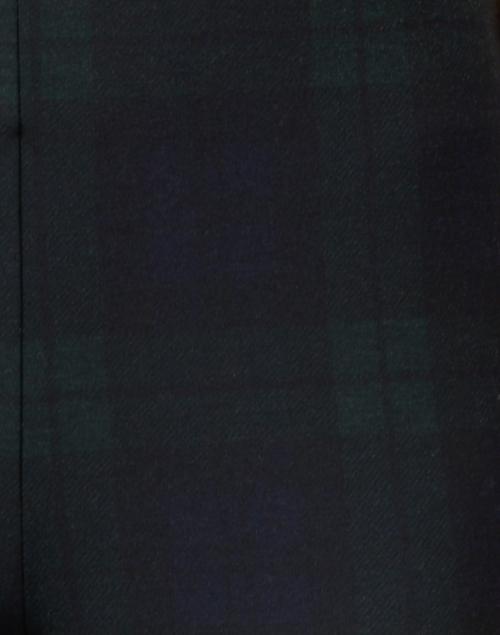 Elliott Lauren - Navy and Green Tartan Printed Compact Knit Pull On Pant