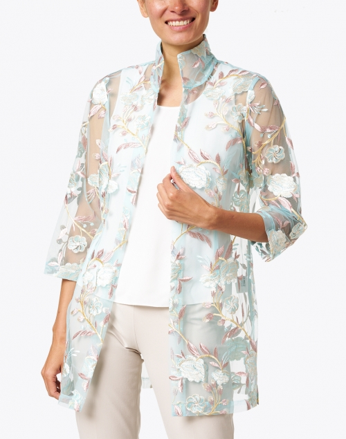 Connie Roberson - Rita Blue and Pink Lush Floral Jacket