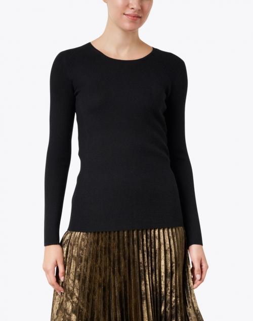 TSE Cashmere - Black Silk Cashmere Rib Sweater