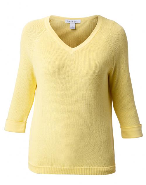 Belford Yellow Cotton Shaker Sweater