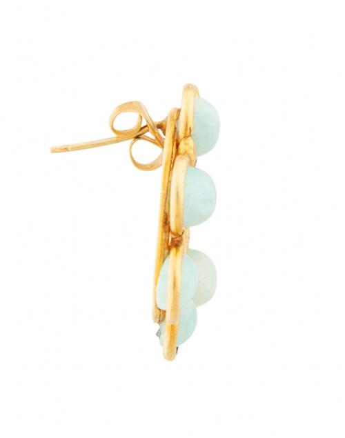Sylvia Toledano - Daisy Amazonite Circle Stud Earrings