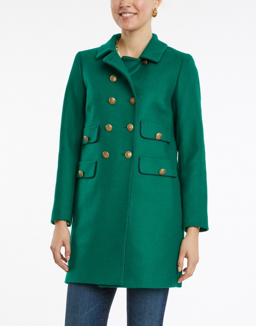 Tara Jarmon - Marceline Green Wool Double Breasted Coat