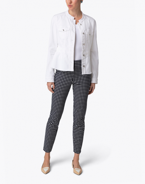 Marc Cain - White Denim Peplum Jacket