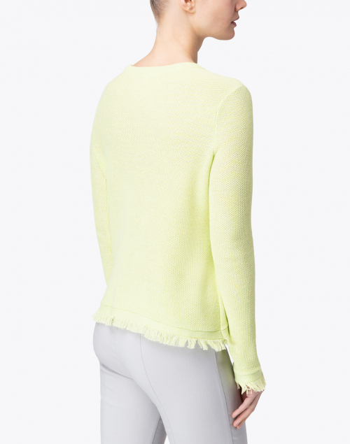 Lisa Todd - Twiggy Limoncello Green Cotton Frayed Sweater