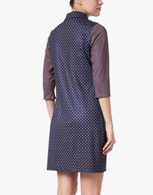 Gretchen Scott - Everywhere Burgundy Foulard Printed Jersey Dress