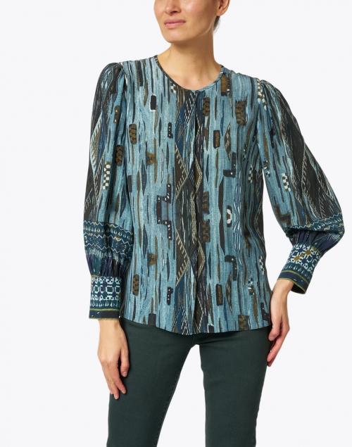 Kobi Halperin - Stella Green Multi Silk Printed Blouse