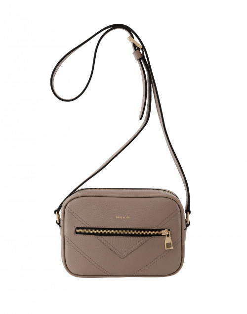 DeMellier - Manhattan Taupe Pebbled Leather Cross-Body Bag
