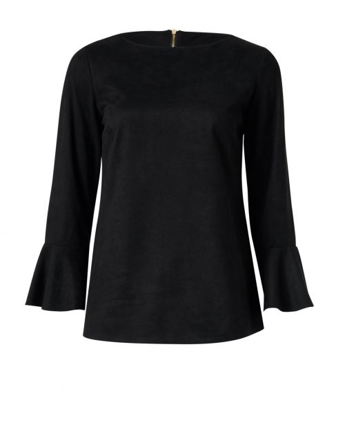 Sail to Sable - Black Faux Suede Top