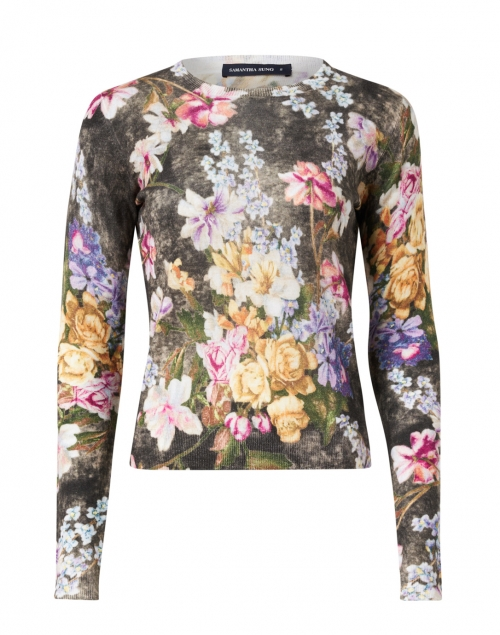 Samantha Sung - Charlotte Multicolored Rembrandt Floral Silk and Cashmere Sweater