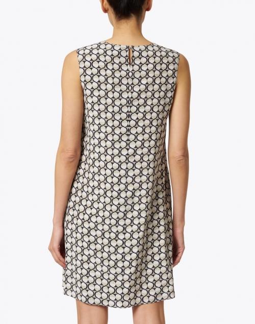 Aspesi - Beige and Black Geometric Dot Silk Dress