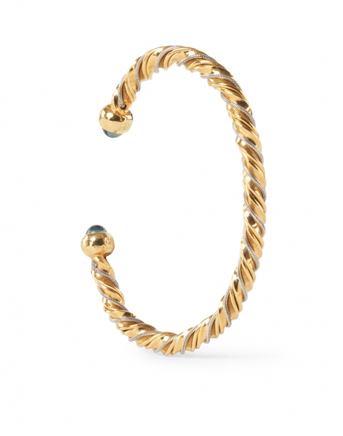 Gas Bijoux - Gold and Silver Intertwined Braided Cuff Bracelet