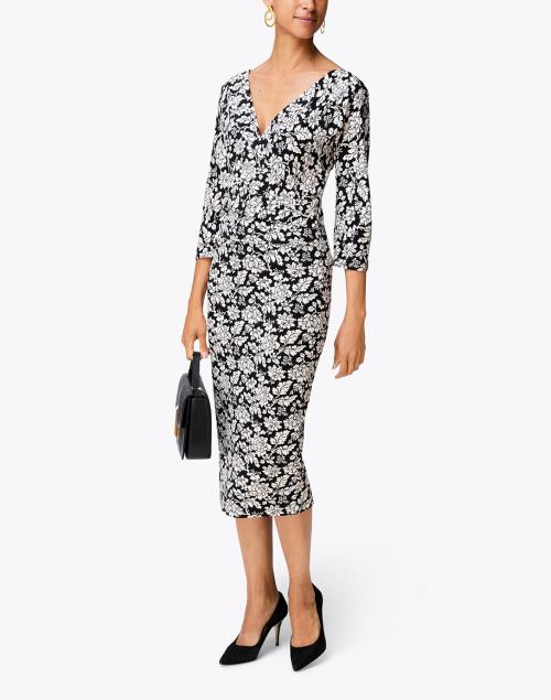 Weekend Max Mara - Estri Black and White Floral Jersey Dress