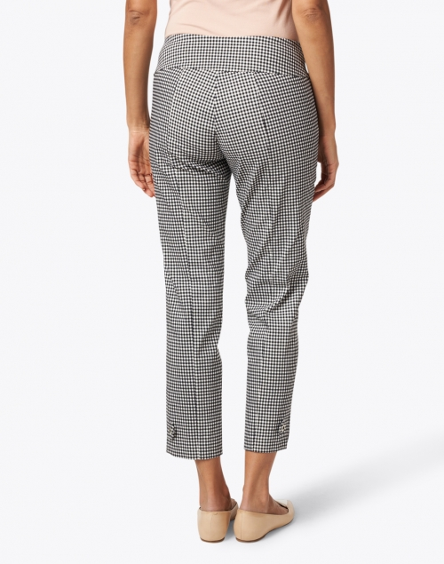 Elliott Lauren - Black and White Gingham Control Stretch Pull-On Pant