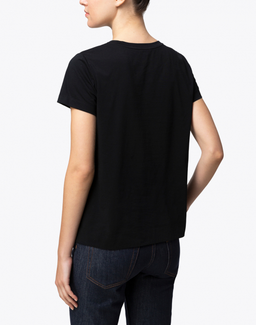 Lafayette 148 New York - The Modern Tee Black Cotton Tee