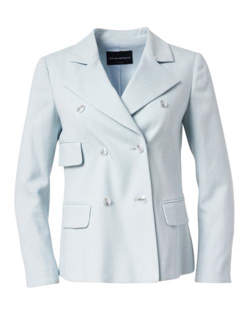 Emporio Armani Light Blue Basketweave Jacket