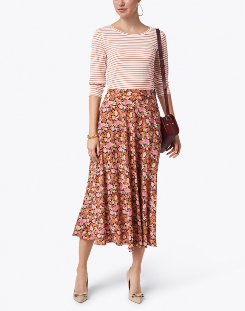 Weekend Max Mara - Essenza Multi Floral Print Silk Skirt