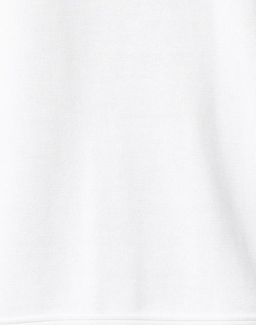 Kinross - White Easy Rib Cotton Sweater