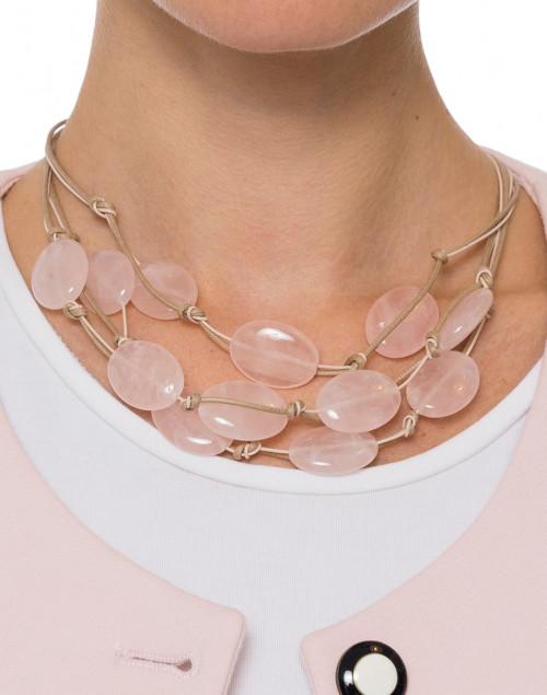 Deborah Grivas - Rose Quartz Necklace