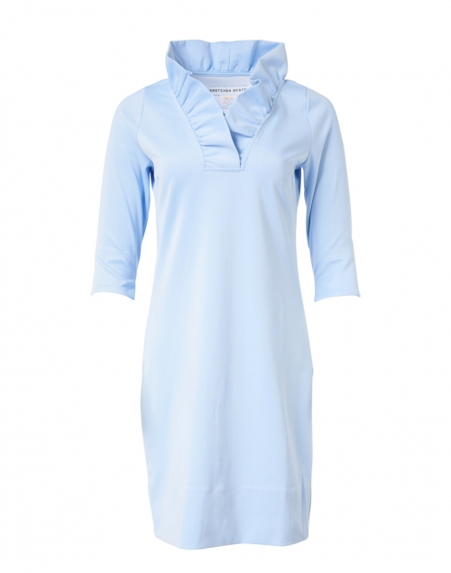Gretchen Scott - Periwinkle Ruffle Neck Dress