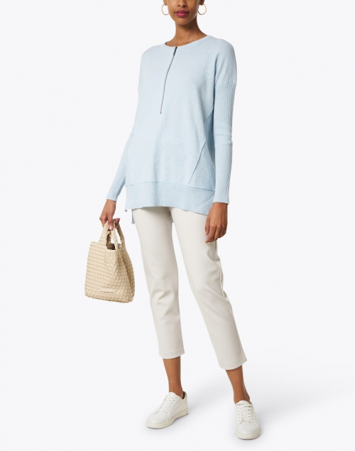 Max Mara Leisure - Empoli Platinum Silver Jersey Pull-On Pant