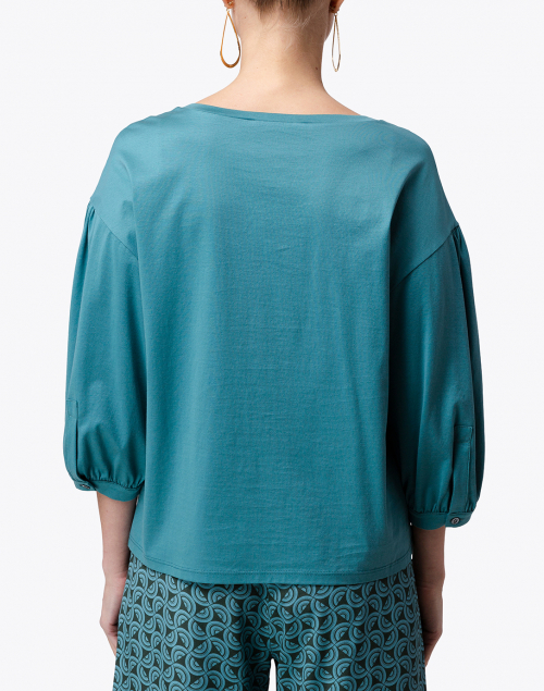 Weekend Max Mara - Armonia Blue Jade Cotton Top
