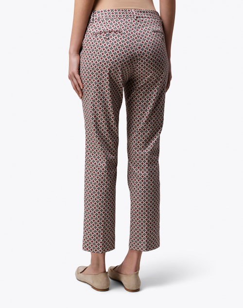 Weekend Max Mara - Astrale Pink and White Tile Print Cotton Stretch Pant