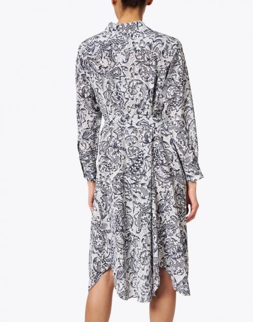 Weekend Max Mara - Fragola Black and White Floral Silk Shirt Dress