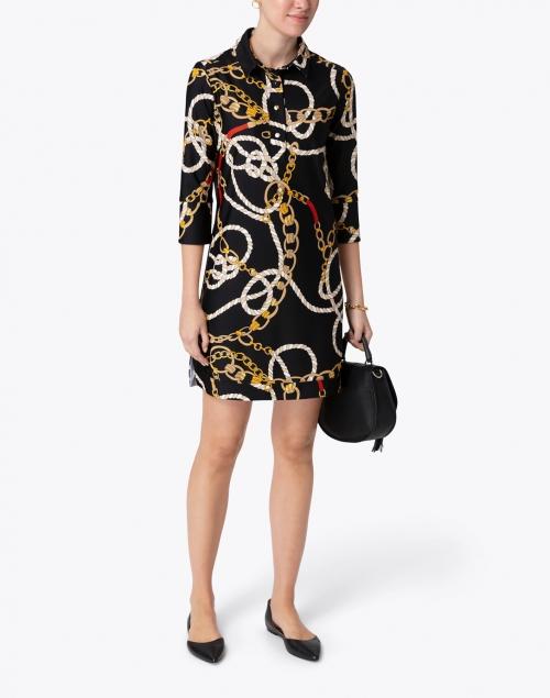 Jude Connally - Babe Black Chain Printed Dress
