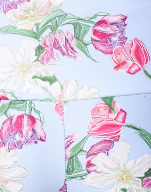 Ala von Auersperg - Elaine Lilac Tulip Printed Stretch Pant