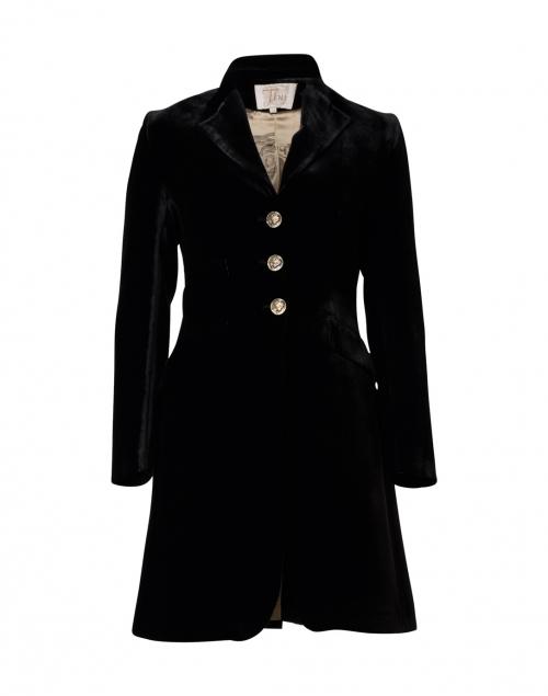 T.ba - Black Classic Velvet Coat