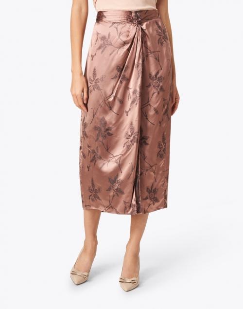 Vince - Pink Floral Print Twist Knot Skirt
