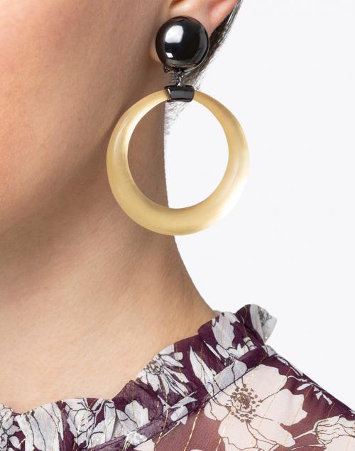 Alexis Bittar - Gold Dome Link Hoop Clip Earrings