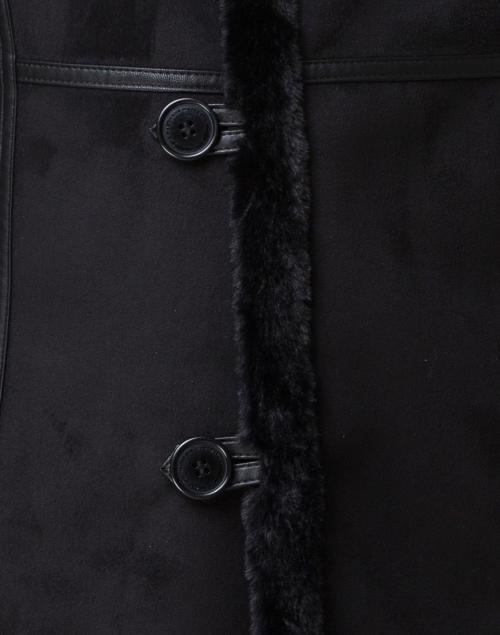 Maison Atia - Angelique Black  Faux Shearling Reversible Coat
