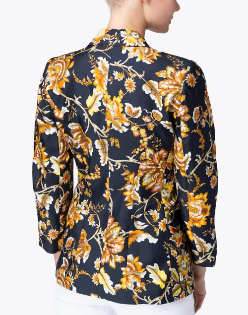 Kobi Halperin - Maria Black and Orange Floral Silk Blazer