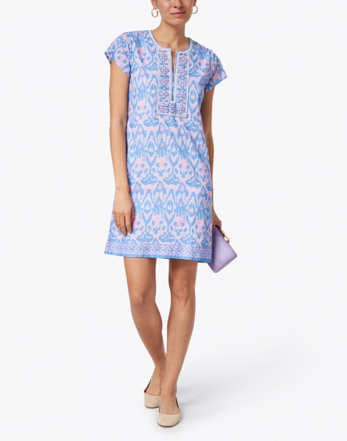 Bella Tu - Ikat Iris Printed Cotton Dress