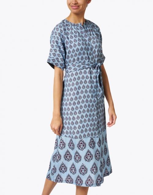 Megan Park - Melike Blue Buttie Print Cotton Dress