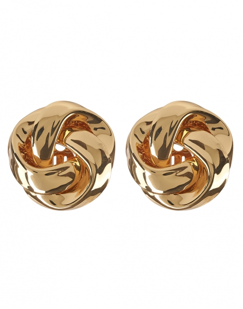 Kenneth Jay Lane - Gold Knot Stud Clip-On Earring