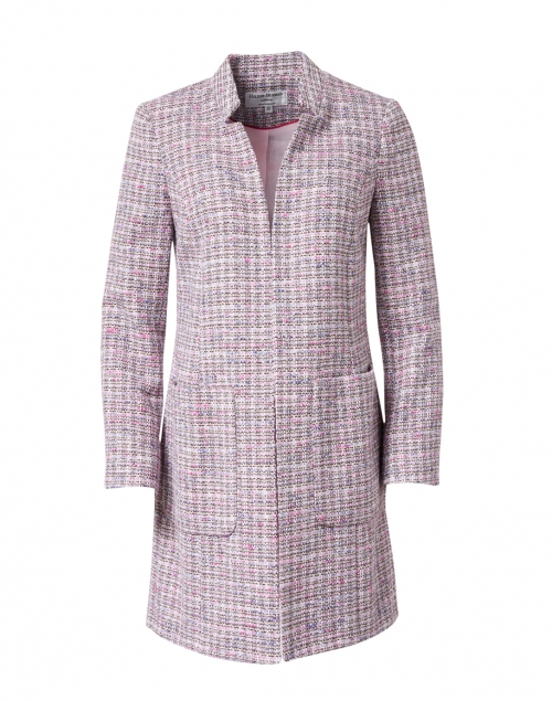 Helene Berman - Pink Lurex Tweed Long Jacket