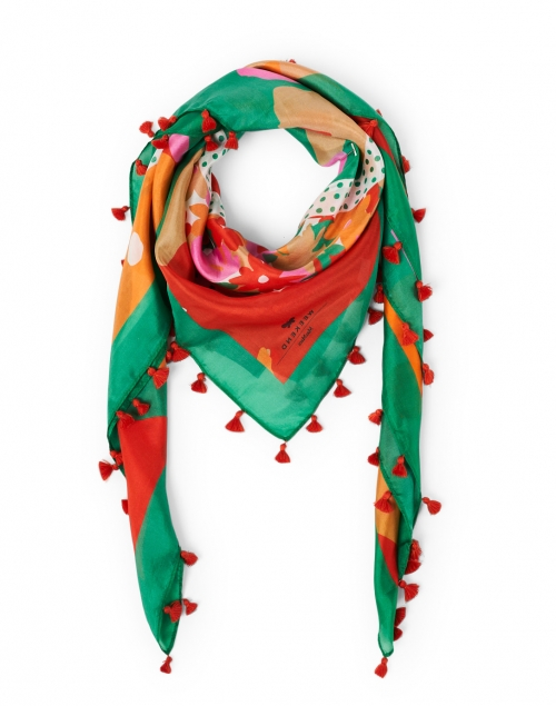 Weekend Max Mara - Giostra Red and Pink Floral Silk Scarf