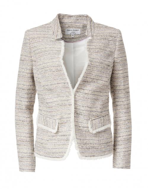 Helene Berman Lilac Tweed Notched Jacket