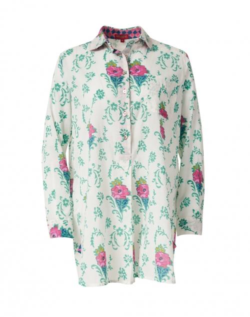 Lisa Corti Ube Cream Floral Cotton Shirt